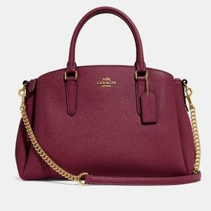Coach Sage Carryall Color Wine Gold Chain